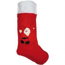 LARGE FELT STOCKING WITH SANTA